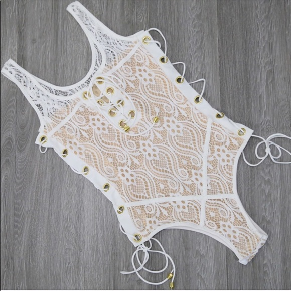 Other - ❗️SALE ❗️White Lace One Piece